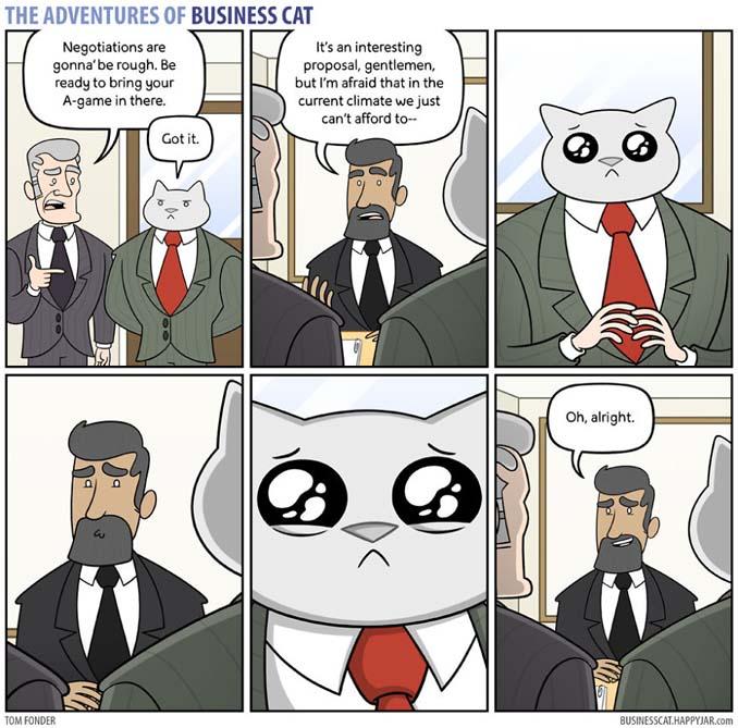 Αν το αφεντικό στο γραφείο ήταν γάτα (5)