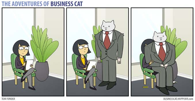 Αν το αφεντικό στο γραφείο ήταν γάτα (9)