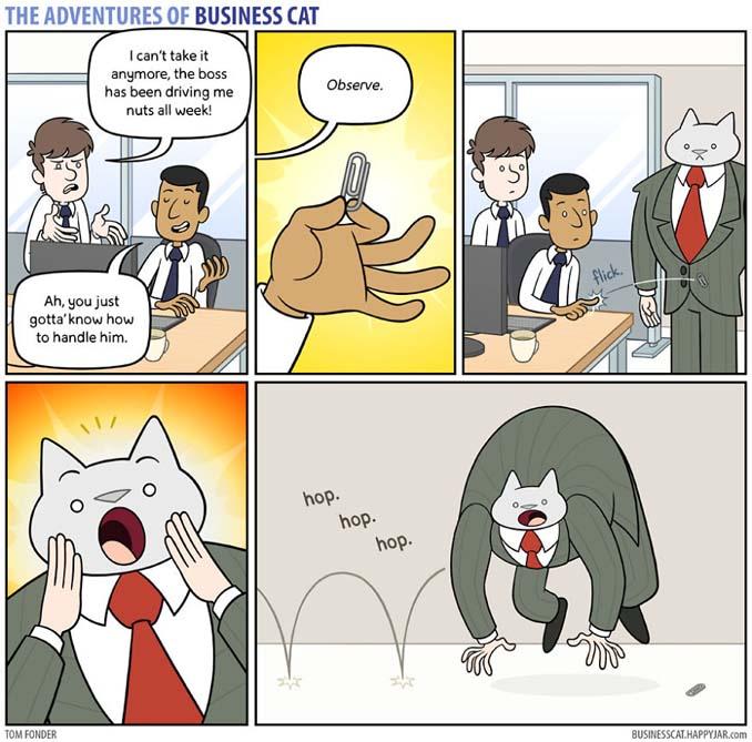 Αν το αφεντικό στο γραφείο ήταν γάτα (19)
