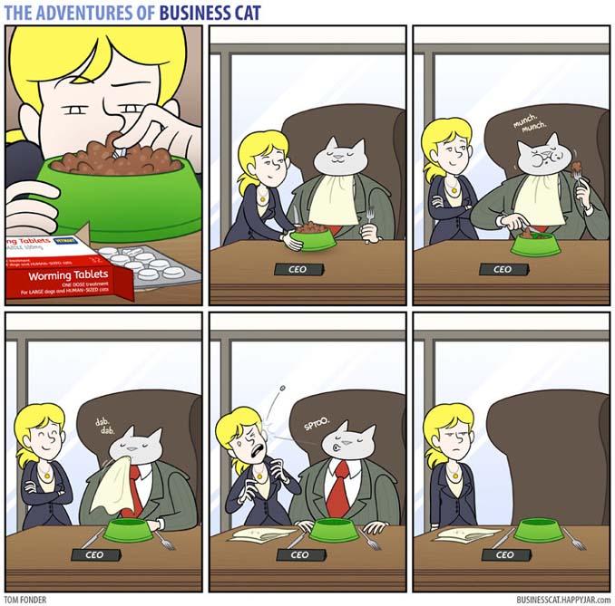 Αν το αφεντικό στο γραφείο ήταν γάτα (21)