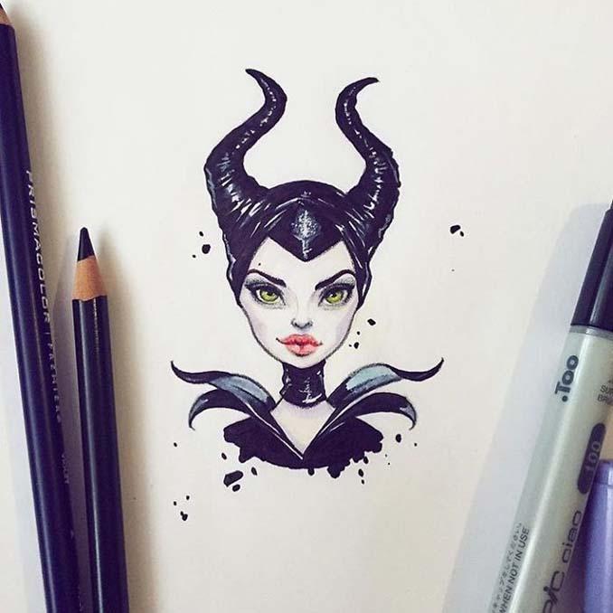 Διάσημοι μετατρέπονται σε χαρακτήρες καρτούν από ταλαντούχα καλλιτέχνιδα (1)