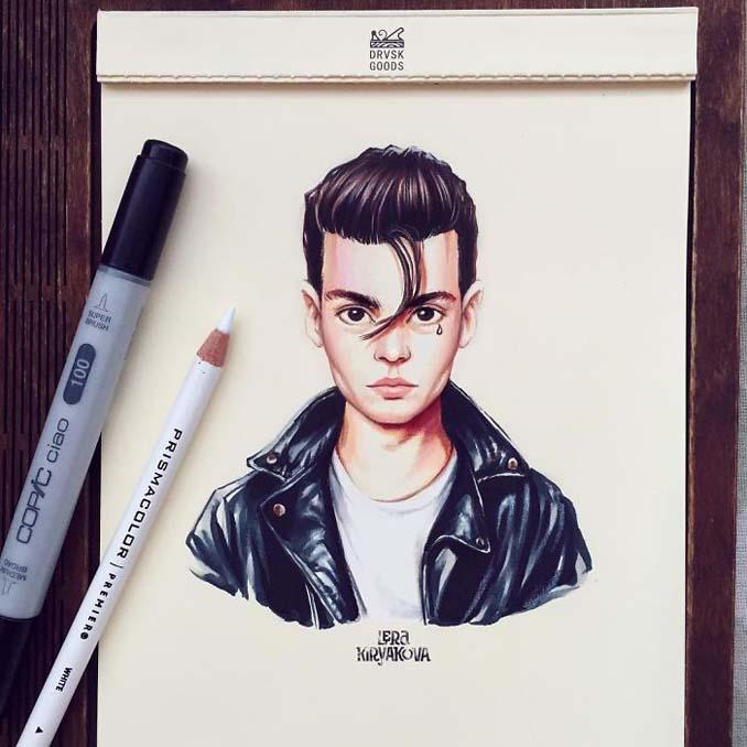 Διάσημοι μετατρέπονται σε χαρακτήρες καρτούν από ταλαντούχα καλλιτέχνιδα (2)