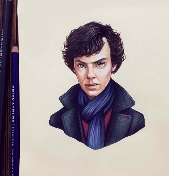Διάσημοι μετατρέπονται σε χαρακτήρες καρτούν από ταλαντούχα καλλιτέχνιδα (5)