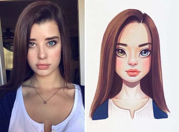 Διάσημοι μετατρέπονται σε χαρακτήρες καρτούν από ταλαντούχα καλλιτέχνιδα (6)