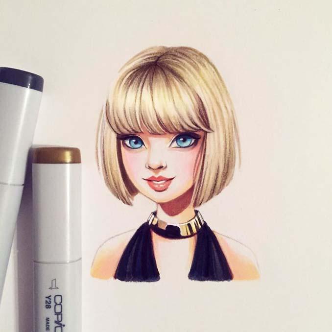 Διάσημοι μετατρέπονται σε χαρακτήρες καρτούν από ταλαντούχα καλλιτέχνιδα (7)