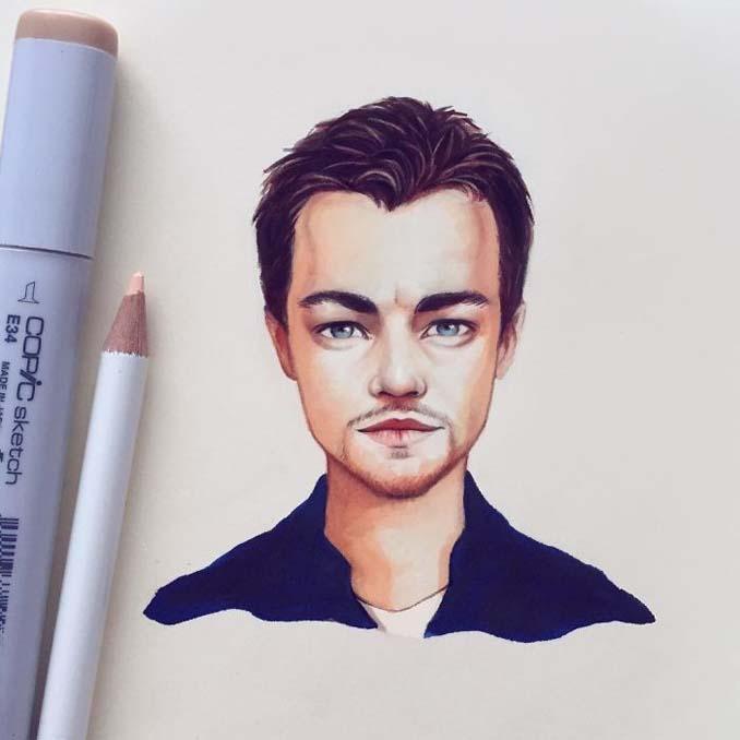 Διάσημοι μετατρέπονται σε χαρακτήρες καρτούν από ταλαντούχα καλλιτέχνιδα (8)