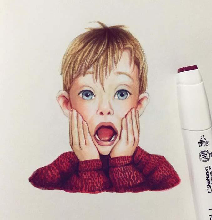 Διάσημοι μετατρέπονται σε χαρακτήρες καρτούν από ταλαντούχα καλλιτέχνιδα (9)