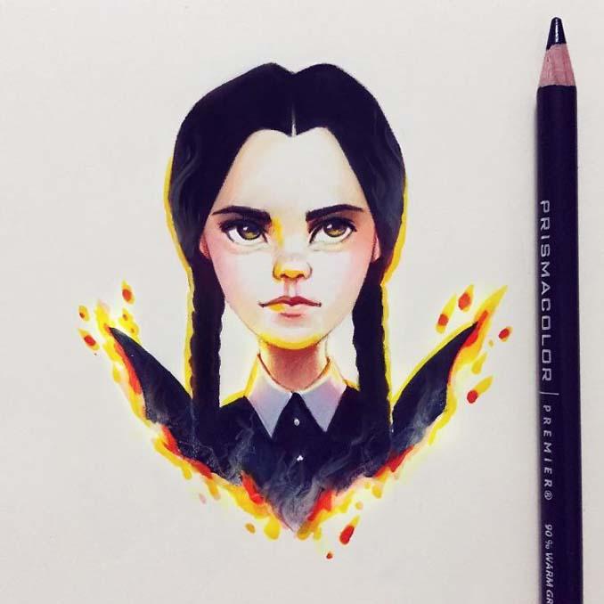 Διάσημοι μετατρέπονται σε χαρακτήρες καρτούν από ταλαντούχα καλλιτέχνιδα (14)