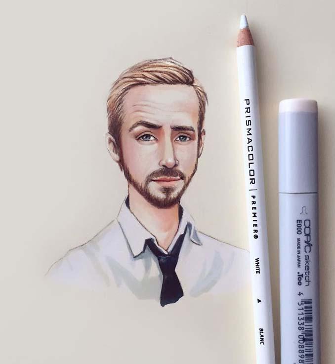 Διάσημοι μετατρέπονται σε χαρακτήρες καρτούν από ταλαντούχα καλλιτέχνιδα (16)