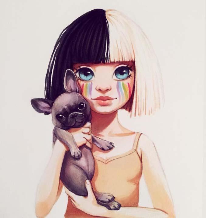 Διάσημοι μετατρέπονται σε χαρακτήρες καρτούν από ταλαντούχα καλλιτέχνιδα (20)