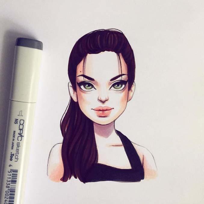 Διάσημοι μετατρέπονται σε χαρακτήρες καρτούν από ταλαντούχα καλλιτέχνιδα (24)