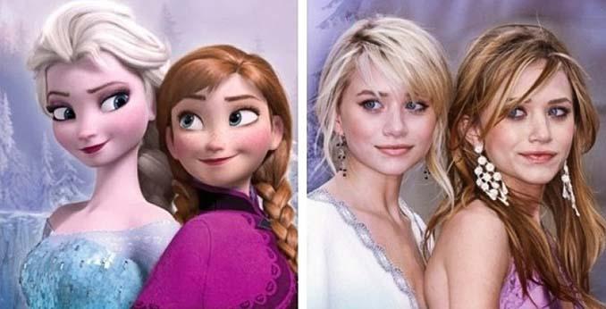 Διάσημοι που θυμίζουν έντονα χαρακτήρες της Disney (12)