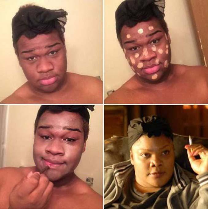 Εξωπραγματικές μεταμορφώσεις με μακιγιάζ (2)