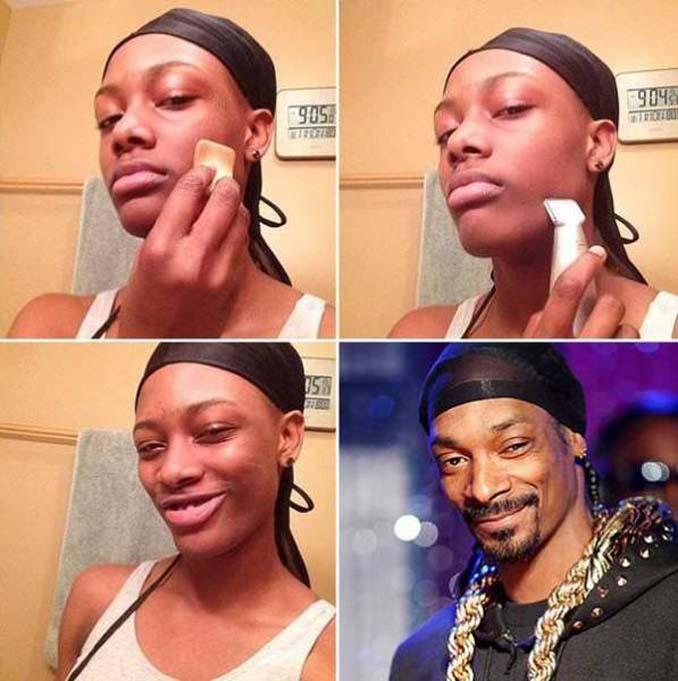 Εξωπραγματικές μεταμορφώσεις με μακιγιάζ (8)