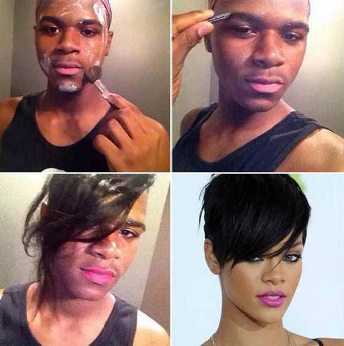 Εξωπραγματικές μεταμορφώσεις με μακιγιάζ (13)