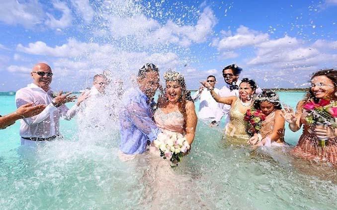 Γάμος στα κρυστάλλινα νερά της Καραϊβικής (2)