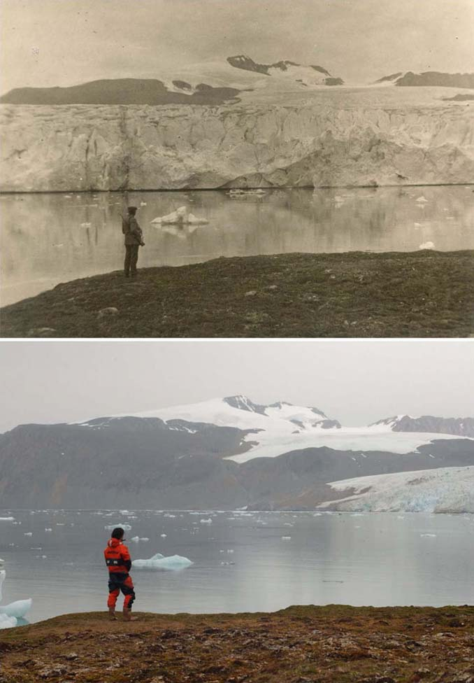 Η κλιματική αλλαγή μέσα από σοκαριστικές φωτογραφίες των παγετώνων της Αρκτικής (2)