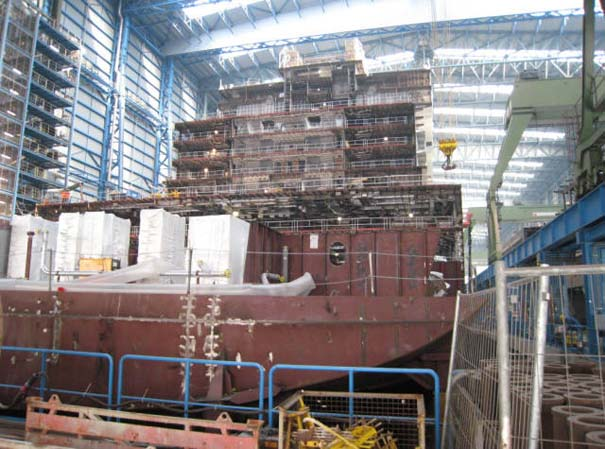 Κρουαζιερόπλοιο σε φάση κατασκευής (2)