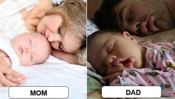 Μαμάδες vs Μπαμπάδες μέσα από 17 χιουμοριστικές φωτογραφίες (5)