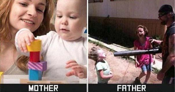 Μαμάδες vs Μπαμπάδες μέσα από 17 χιουμοριστικές φωτογραφίες (6)