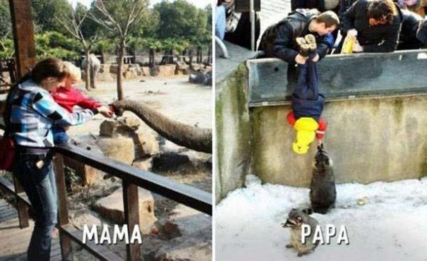 Μαμάδες vs Μπαμπάδες μέσα από 17 χιουμοριστικές φωτογραφίες (8)