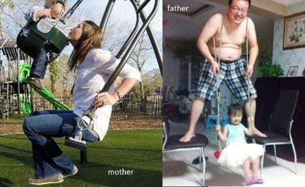 Μαμάδες vs Μπαμπάδες μέσα από 17 χιουμοριστικές φωτογραφίες (14)