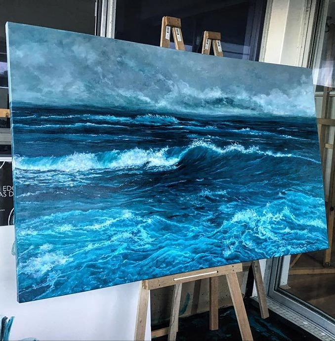 Ζωγραφίζοντας τη μανιασμένη θάλασσα | Φωτογραφία της ημέρας