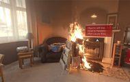 Δείτε πόσο γρήγορα παίρνει εφιαλτικές διαστάσεις μια φωτιά στο εσωτερικό του σπιτιού