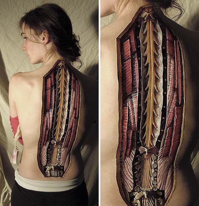Ρεαλιστικά ανατομικά body painting αποκαλύπτουν τις δομές κάτω από το δέρμα μας (2)