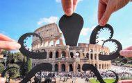 Σχέδια από χαρτί μετατρέπουν διάσημα αξιοθέατα σε απίστευτα σκηνικά (1)