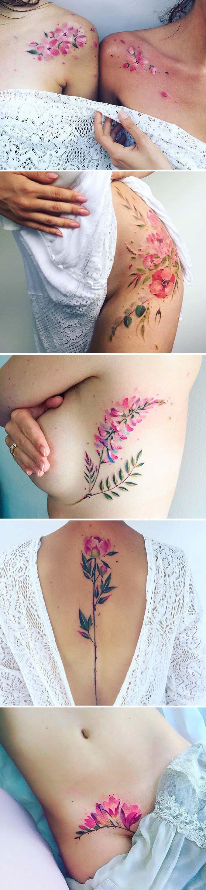 Φλοράλ τατουάζ (2)