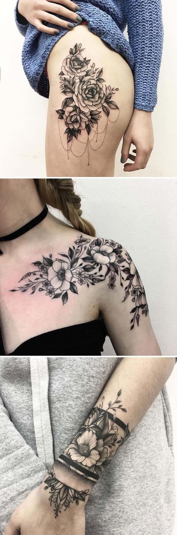 Φλοράλ τατουάζ (3)