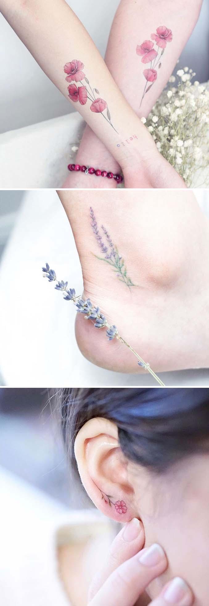 Φλοράλ τατουάζ (5)