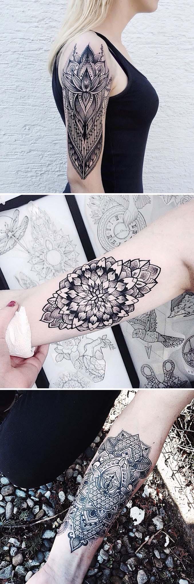 Φλοράλ τατουάζ (6)