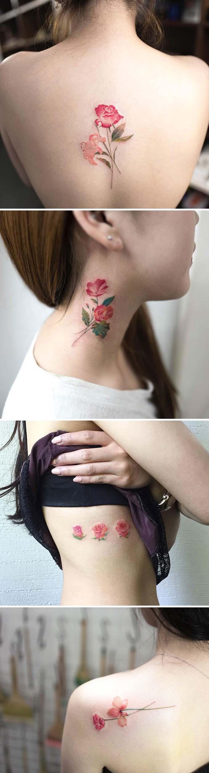 Φλοράλ τατουάζ (7)