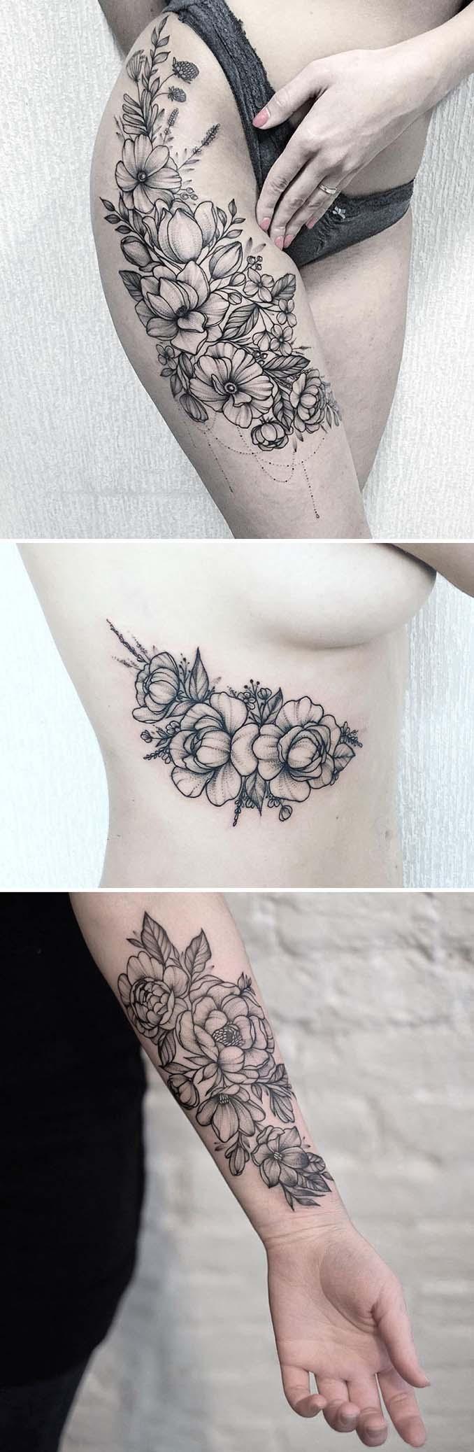 Φλοράλ τατουάζ (8)