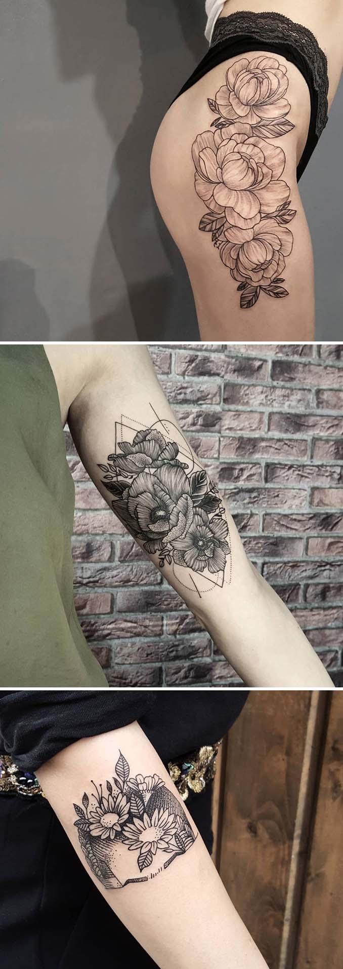 Φλοράλ τατουάζ (11)