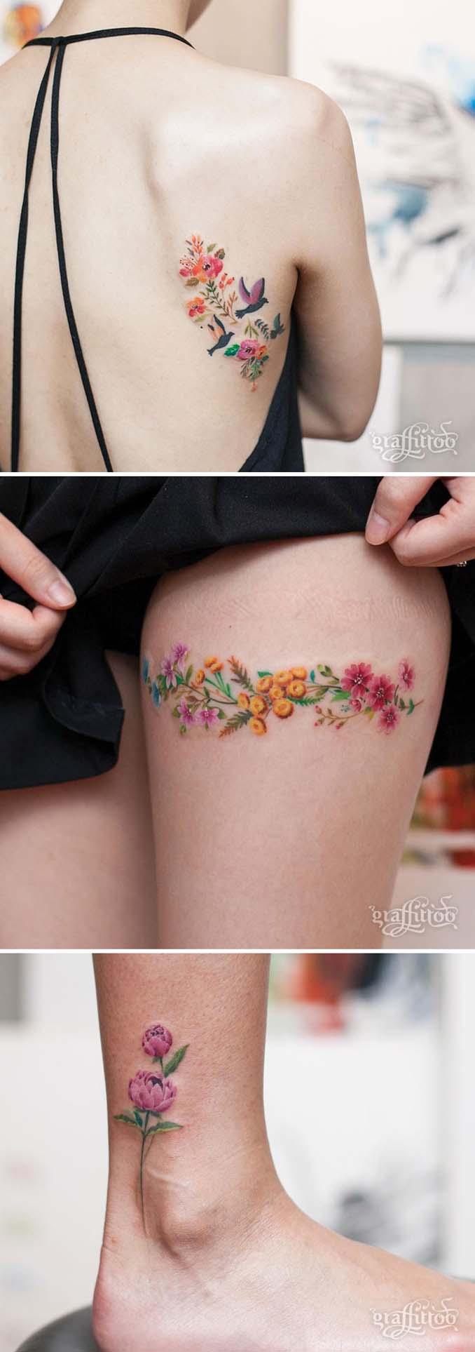 Φλοράλ τατουάζ (12)