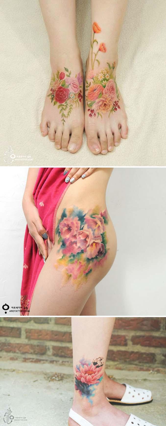 Φλοράλ τατουάζ (17)