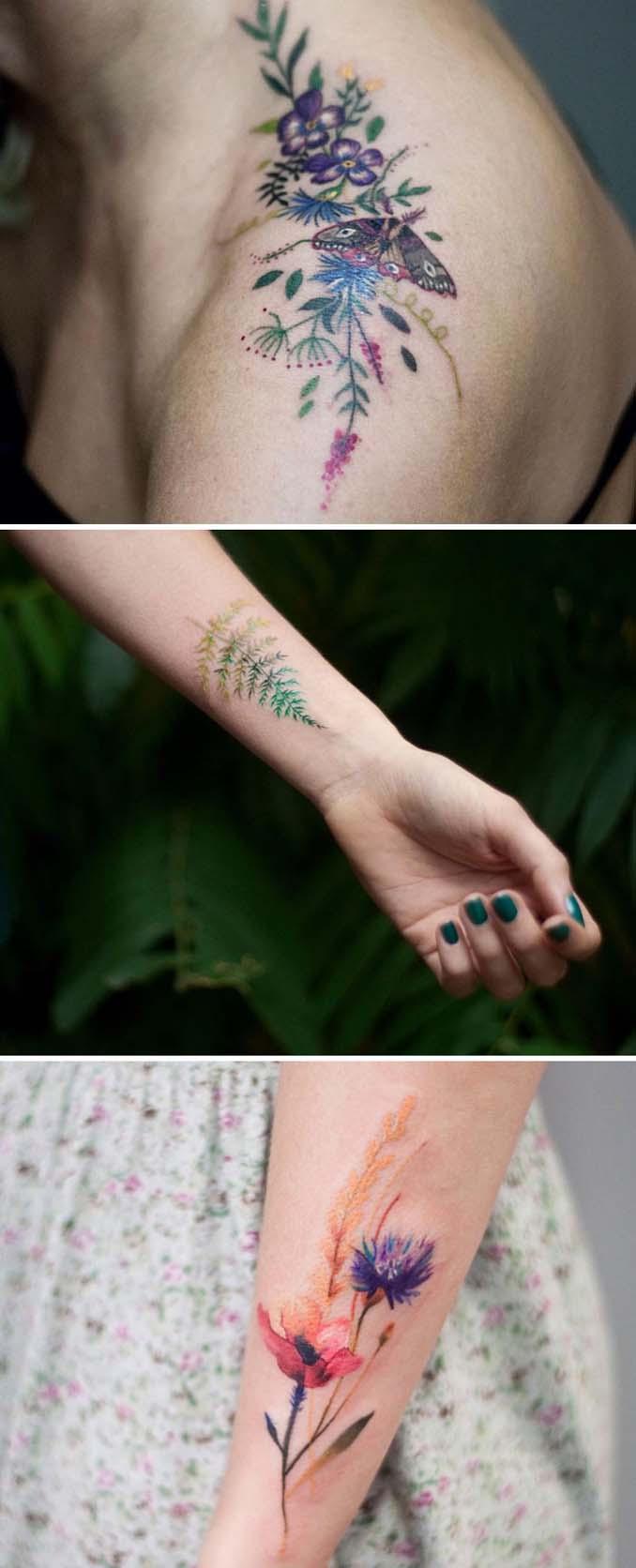 Φλοράλ τατουάζ (19)