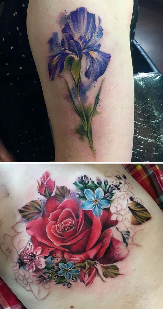 Φλοράλ τατουάζ (22)