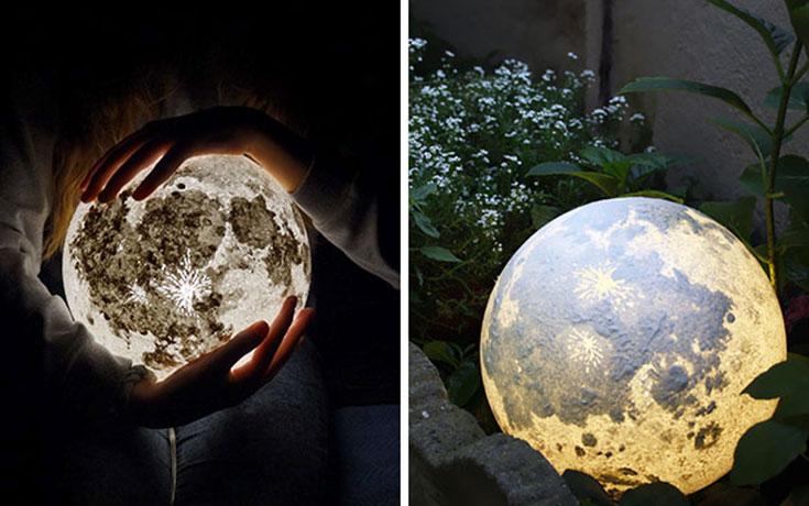 Φωτιστικά σε σχήμα της Σελήνης και πλανητών (1)