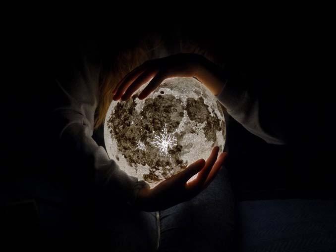 Φωτιστικά σε σχήμα της Σελήνης και πλανητών (4)