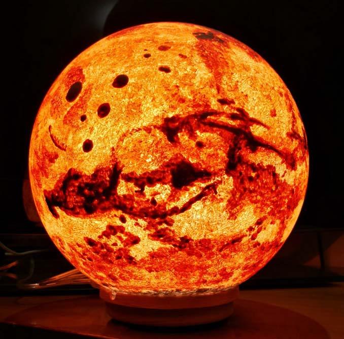 Φωτιστικά σε σχήμα της Σελήνης και πλανητών (6)