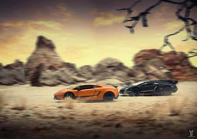 Φωτογραφίζοντας αυτοκίνητα μινιατούρες σαν να ήταν αληθινά (17)