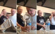 Γιαγιά κάνει τη διάσημη φάρσα με το μπουκάλι έχοντας ως θύμα τον παππού
