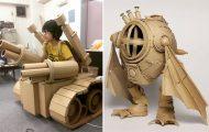 Γιαπωνέζα καλλιτέχνις μετατρέπει κουτιά από χαρτόνι σε απίθανα γλυπτά (1)