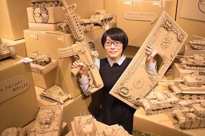 Γιαπωνέζα καλλιτέχνις μετατρέπει κουτιά από χαρτόνι σε απίθανα γλυπτά (7)