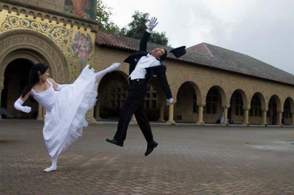 Νεόνυμφοι που αποφάσισαν να πρωτοτυπήσουν με τις γαμήλιες φωτογραφίες τους (9)