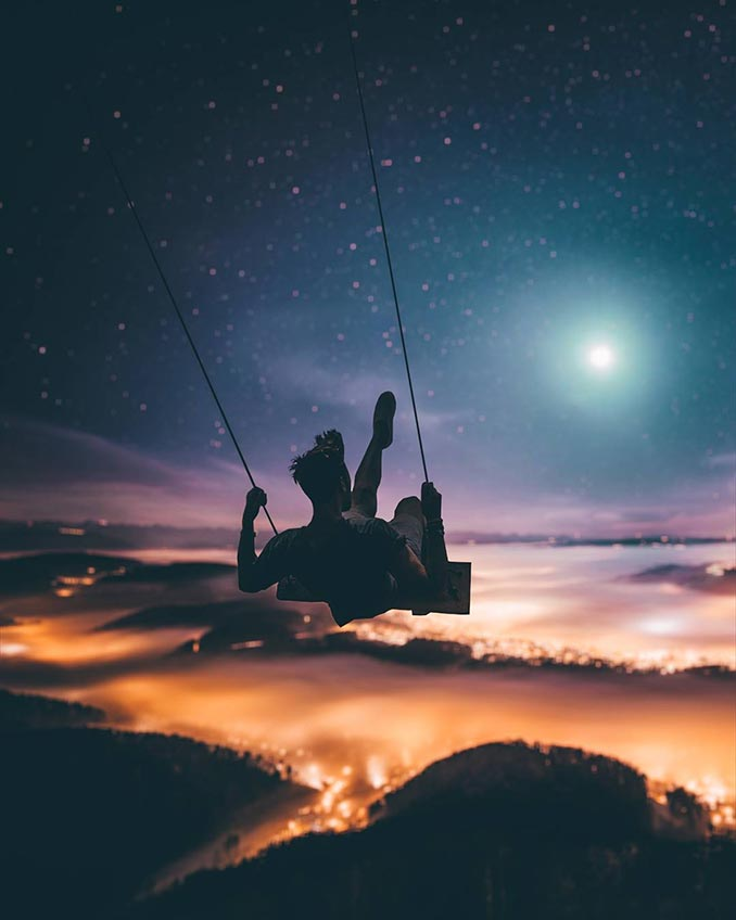 Κάνοντας κούνια πάνω από τα σύννεφα   Φωτογραφία της ημέρας